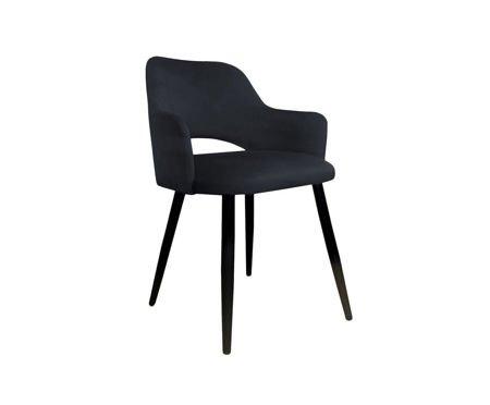 Czarne tapicerowane krzesło STAR materiał MG-19