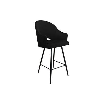 Czarny tapicerowany hoker fotel DIUNA materiał MG-19