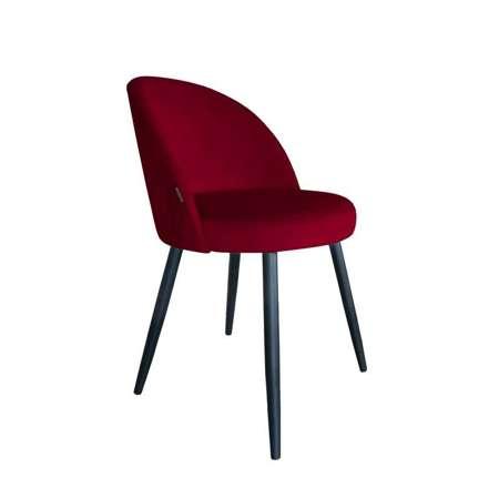 Czerwone tapicerowane krzesło CENTAUR materiał MG-31