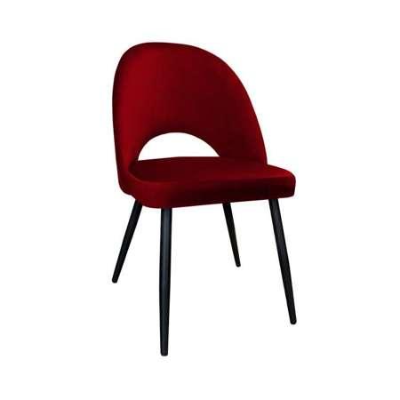 Czerwone tapicerowane krzesło LUNA materiał MG-31