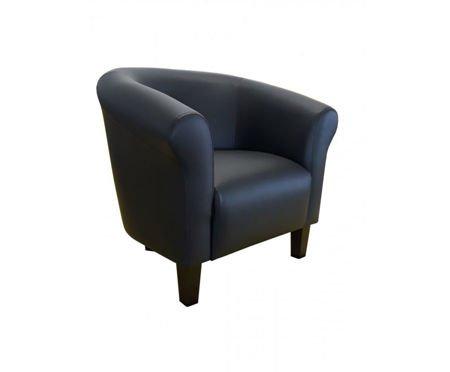 DZIECIĘCY Fotel MALIBU czarny