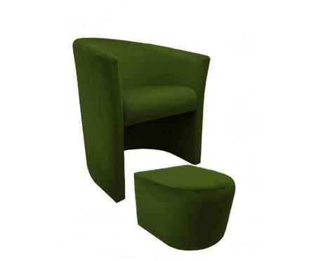 Fotel CAMPARI z podnóżkiem Bluvel 75