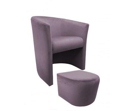 Fotel CAMPARI z podnóżkiem Magic Velvet 55