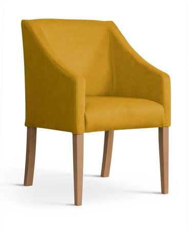 Fotel CAPRI miodowy/ noga dąb/ BL68