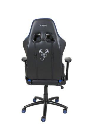 Fotel Gamingowy Scorpion Niebieski SKG006 N