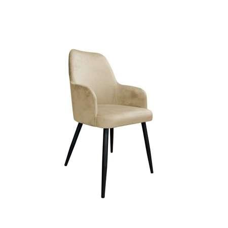 Jasnobrązowe tapicerowane krzesło PEGAZ materiał MG-06