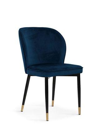 Krzesło AINE granatowy/ noga czarno-złota/ BL86