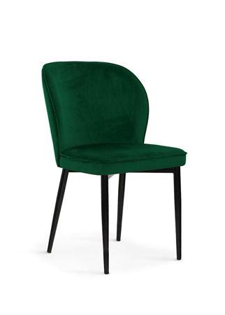 Krzesło AINE zielony/ noga czarna/ BL78