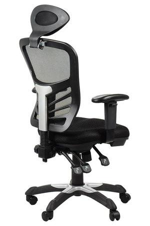 Krzesło Fotel biurowy gabinetowy obrotowy Cypr - czarny