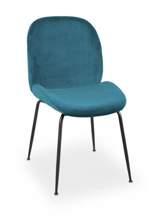 Krzesło JOY velvet morski/ noga czarna