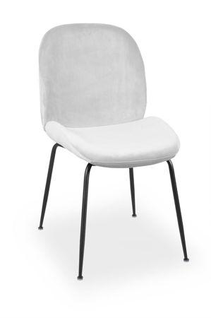 Krzesło JOY velvet srebrny/ noga czarna