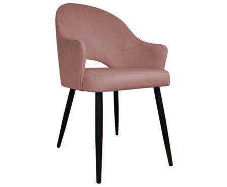 Różowe tapicerowane krzesło DIUNA materiał MG-58 koralowe