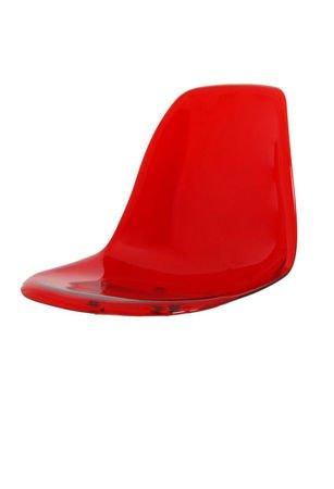 SK Design KR012 Transparentne Czerwone Siedzisko