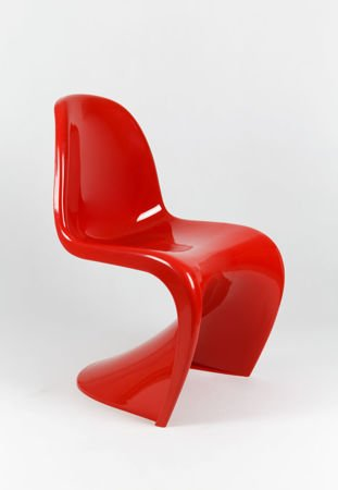SK Design KR017 Czerwone Krzesło Połysk