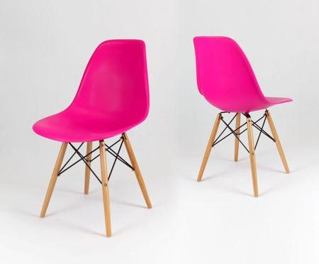 SK Design KR012 Ciemnoróżowe Krzesło, Nogi buk