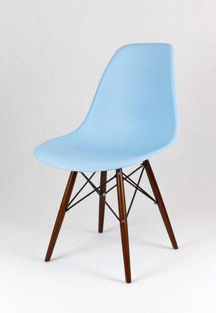SK Design KR012 Jasnoniebieskie Krzesło, Nogi Wenge