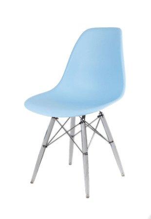 SK Design KR012 Jasnoniebieskie Krzesło, Nogi lodowe