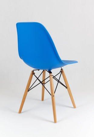 SK Design KR012 Niebieskie Krzesło, Nogi buk