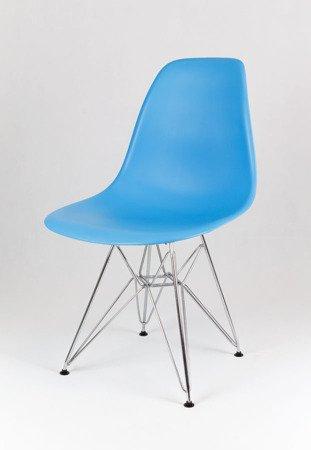 SK Design KR012 Oceaniczne (niebieskie) Krzesło, Nogi Chrom