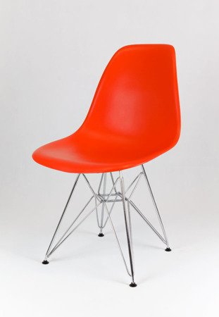 SK Design KR012 Pomarańczowe Krzesło, Chromowane nogi