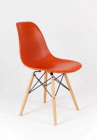 SK Design KR012 Pomarańczowe Krzesło, Nogi buk