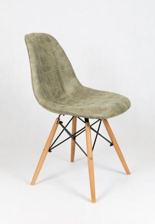 SK Design KR012 Tapicerowane Krzesło Eko 2, Nogi buk