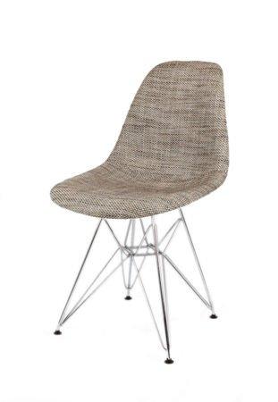 SK Design KR012 Tapicerowane Krzesło Lawa02, Chromowane nogi