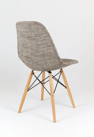 SK Design KR012 Tapicerowane Krzesło Lawa02, Nogi buk