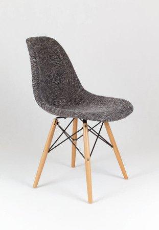 SK Design KR012 Tapicerowane Krzesło Lawa17, Nogi buk