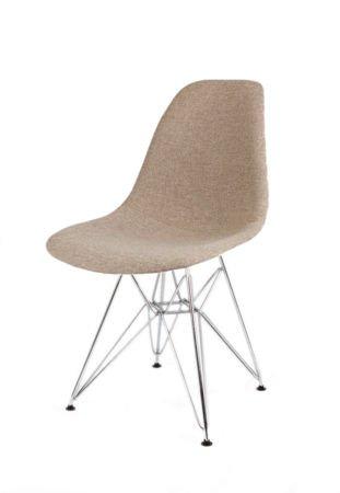 SK Design KR012 Tapicerowane Krzesło Muna03 Chrom