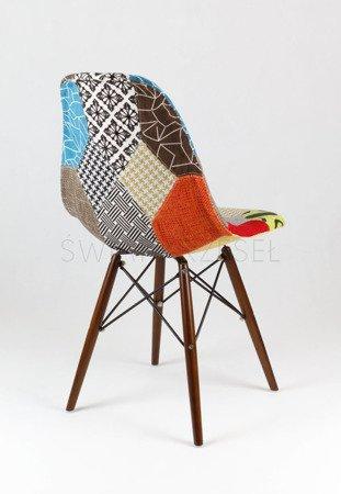 SK Design KR012 Tapicerowane Krzesło Patchwork 2 Wenge