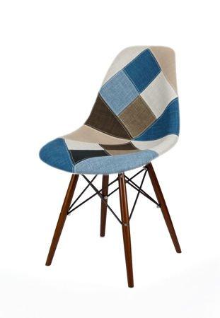 SK Design KR012 Tapicerowane Krzesło Patchwork 6 Wenge