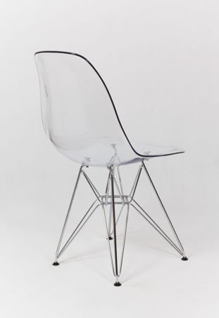 SK Design KR012 Transparentne Krzesło, Chromowane nogi