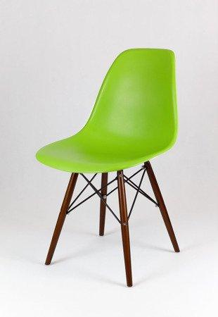 SK Design KR012 Zielone Krzesło, Nogi wenge