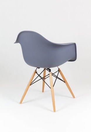 SK Design KR012F Ciemnoszary Fotel Buk