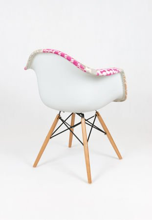 SK Design KR012F Tapicerowany Fotel Patchwork 7 Buk