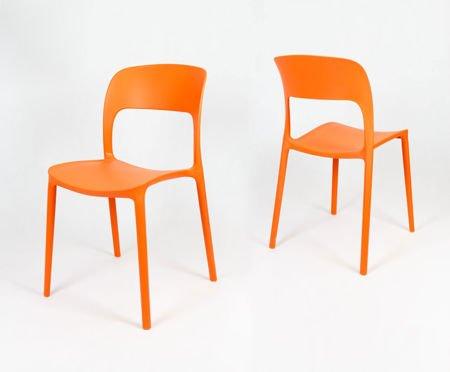SK Design KR022 Pomarańczowe Krzesło UFO