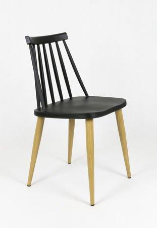 SK Design KR054 Czarne Krzesło PRL Patyczak