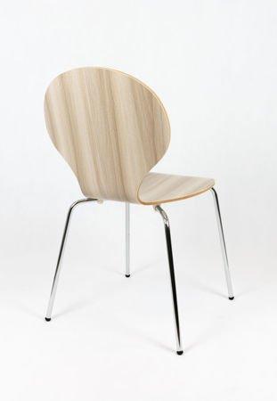SK Design SKD004 Drewniane Krzesło Szare