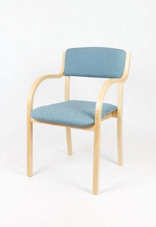 SKE Bach SKB001 Drewniane Krzesło Tapicerowane