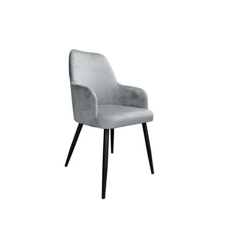 Szare tapicerowane krzesło PEGAZ materiał MG-17