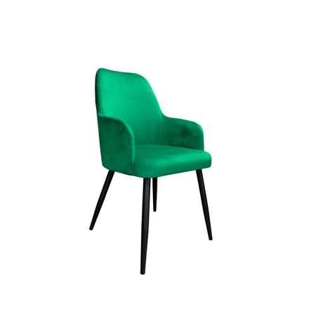 Zielone tapicerowane krzesło PEGAZ materiał MG-25