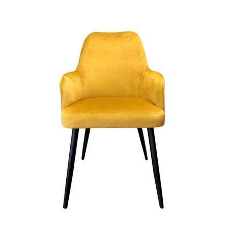 Żółte tapicerowane krzesło PEGAZ materiał MG-15